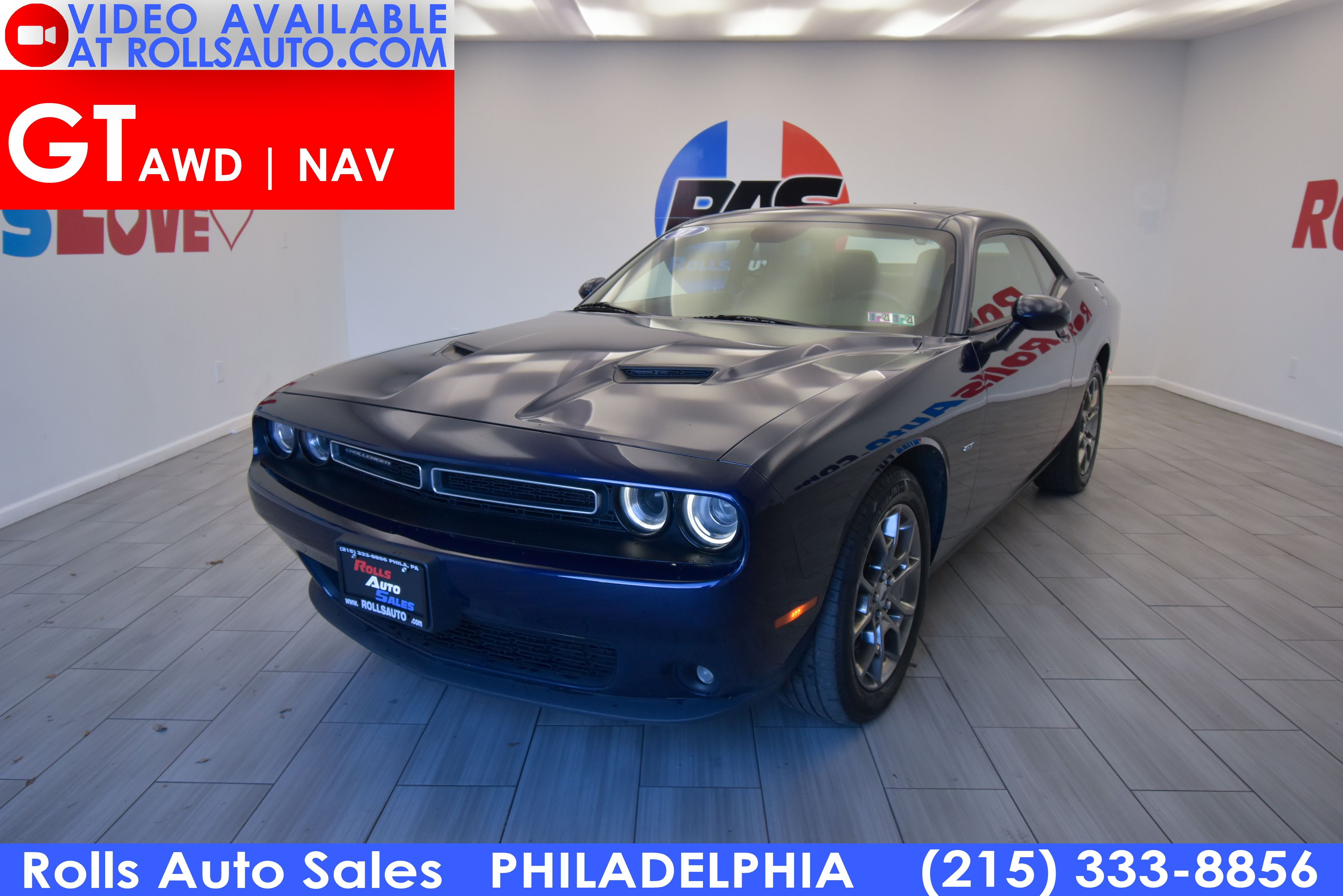 Pre-Owned 2017 Dodge Challenger AWD GT